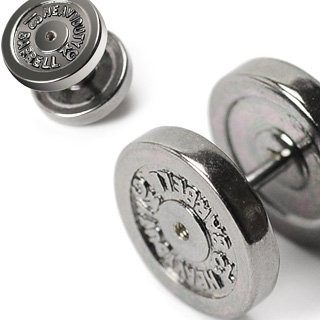 piercing do ucha:: FAKE PLUG :: dumbbell plate