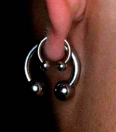 piercing do ucha ::CIRCULAR/CAPTIVE BEAD