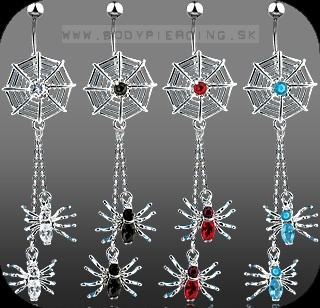 piercing do pupku :: BELLY BUTTON RING :: dangling spidernet