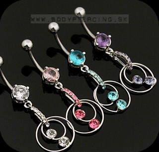 piercing do pupku :: BELLY BUTTON RING :: dangling multiring