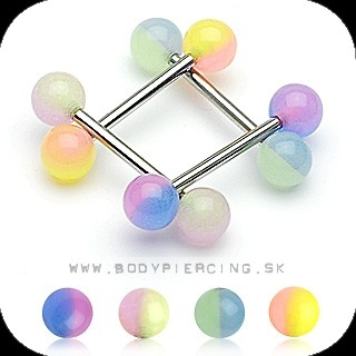piercing do jazyka::  STRAIGHT BARBELL::  fosfor doublecolor ball