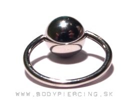 piercing do bradavky :: BEAD CAPTIVE RING :: large ball