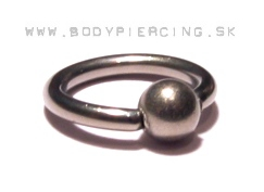 piercing do bradavky :: BEAD CAPTIVE RING :: titan grade G23