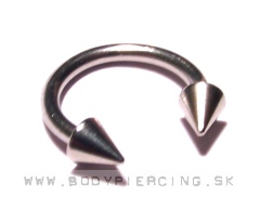 piercing do obočia :: CIRCULLAR BARBELL :: classic steel cone