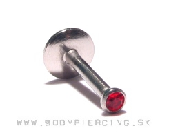 piercing do brady - pery:: LABRET::MONROE :: red zirkon
