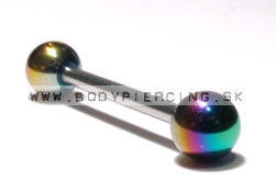 piercing do jazyka ::STRAIGHT BARBELL::  Anodized ball