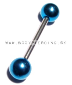 piercing do jazyka::STRAIGHT BARBELL::AballB