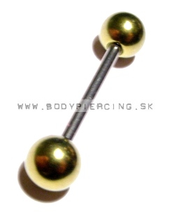 piercing do jazyka::STRAIGHT BARBELL::AballGD