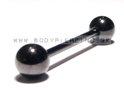 piercing do jazyka::STRAIGHT BARBELL::black PVD