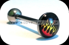 piercing do jazyka::  STRAIGHT BARBELL::  acrylLOGO211