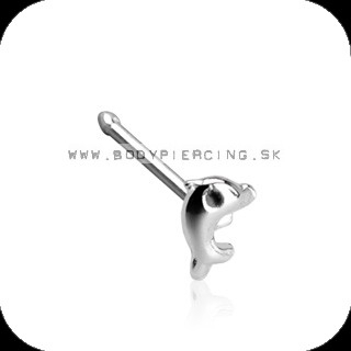 piercing do nosa :: NOSTRIL STUD :: black eye dolphin
