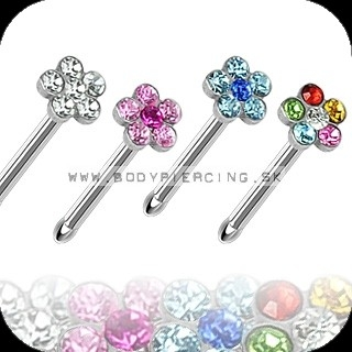 piercing do nosa :: NOSTRIL STUD :: multigem flower