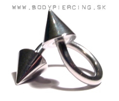 piercing do obočia::  SPIRAL::TWISTER :: steel 2cones
