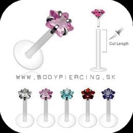 piercing do brady - pery:: BIOFLEX LABRET :: silver prong set star