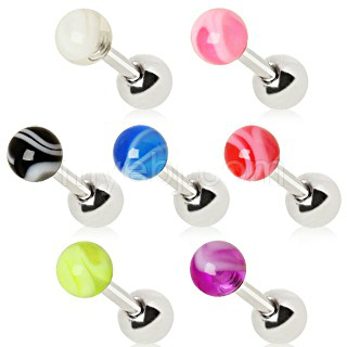 piercing do brady - pery:: STEEL LABRET :: UV marble ball
