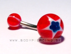 piercing do pupku :: BELLY BUTTON RING :: acryl flowerstar R