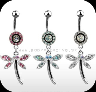 piercing do pupku :: BELLY BUTTON RING :: dangling buttefly