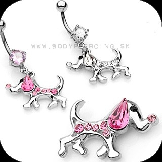 piercing do pupku :: BELLY BUTTON RING :: dangling dog