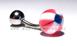 piercing do pupku :: BELLY BUTTON RING :: zirkon paraball PINK