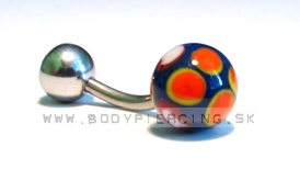 piercing do pupku :: BELLY BUTTON RING :: keramic zirkon B