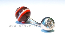 piercing do pupku :: BELLY BUTTON RING :: keramic zirkon BR