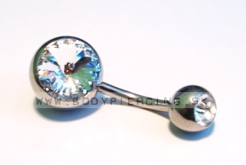 piercing do pupku :: BELLY BUTTON RING :: large zirkon 32W