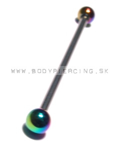piercing do ucha:: INDUSTRIAL BARBELL:: anodised ball::