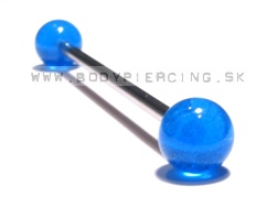 piercing do ucha:: INDUSTRIAL BARBELL:: fosfor blue ball::