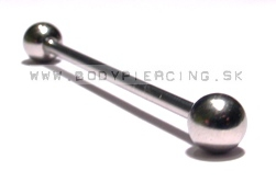 piercing do ucha:: INDUSTRIAL BARBELL :: steel two ball ::