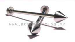 piercing do ucha:: INDUSTRIAL BARBELL :: steel two cone