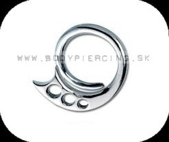 piercing do ucha :: HOLE EXPANDER :: steel tribal claw