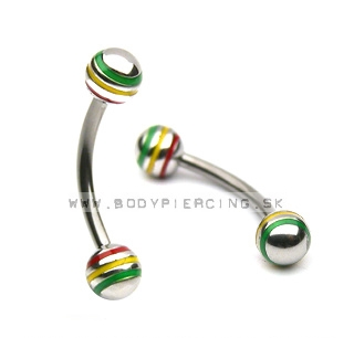 piercing do obočia ::  EYEBROW ::  rasta stripeball