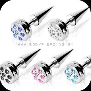 piercing do ucha:: FAKE TAPER :: paved gem