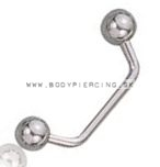 piercing implantát :: surface piercing ::
