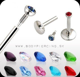 piercing do brady - pery:: LABRET ::MONROE :: press fit gem