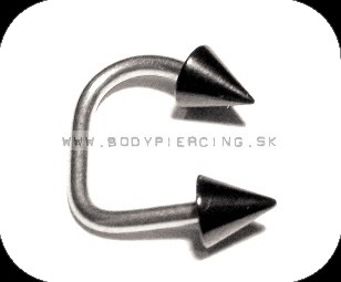 piercing do brady - pery :: LABRET:: lippy loop :: double black PVD CONE