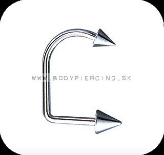 piercing do brady - pery :: LABRET:: lippy loop :: double CONE