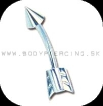 piercing do obočia :: CURVED BARBELL :: arrow shaft