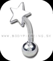 piercing do obočia :: CURVED BARBELL :: star sign