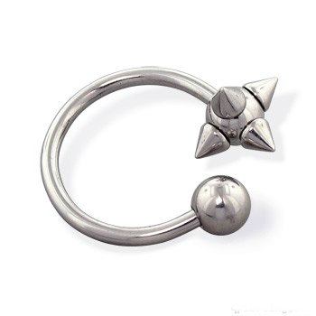 piercing podkova :: CIRCULAR BARBELL :: viking ball