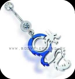 piercing do pupku ::  BELLY BUTTON RING ::  double zirkon drake