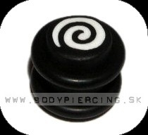 piercing do ucha ::  FIMO PLUG :: white swirl