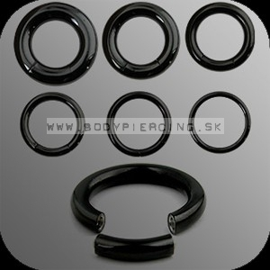 piercing do ucha :: SEGMENT RING :: black PVD
