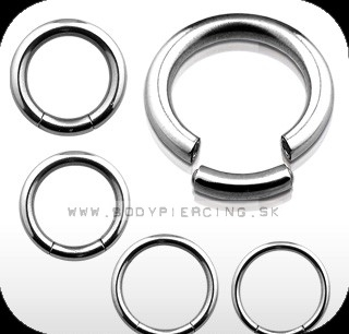 piercing do ucha :: SEGMENT RING :: steel captive