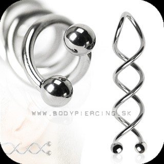 piercing do ucha :: TWISTER SWIRL :: spiral taper