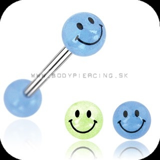 piercing do jazyka :: STRAIGHT BARBELL :: fosfor smile ball