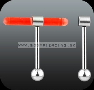 piercing do jazyka ::  TONGUE RING :: glowlite HOLDER