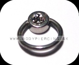 piercing do jazyka :: MICRO CAPTIVE BEAD RING:: zirkon W