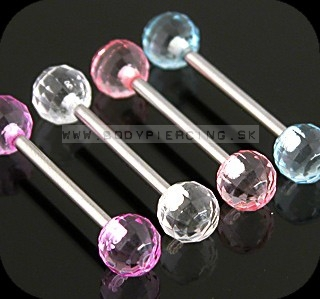 piercing do jazyka :: STRAIGHT BARBELL :: UV DISCOball