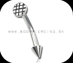 piercing do obočia :: CURVED BARBELL :: steel nail